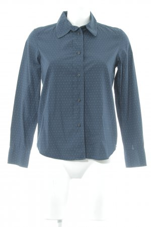 A.P.C. Hemdblouse wit-donkerblauw gestippeld patroon casual uitstraling