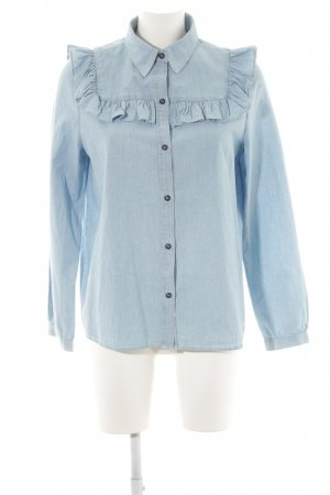 A.P.C. Denim Shirt neon blue casual look