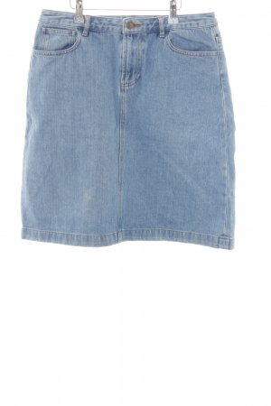 A.P.C. Denim Skirt neon blue casual look