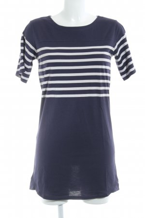 A.P.C. Jersey Dress dark violet-dusky pink striped pattern casual look