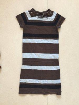 A.P.C.-Kleid braun-schwarz-grau aus Baumwolle, Größe M (bis S!) / APC Paris