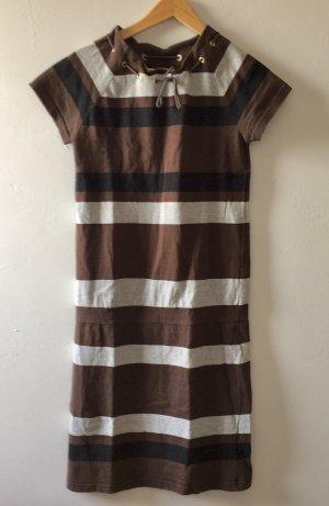 A.P.C. * Kleid braun-schwarz-grau * Baumwolle * APC Paris *