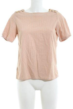 A.P.C. Kurzarm-Bluse nude Streifenmuster Business-Look