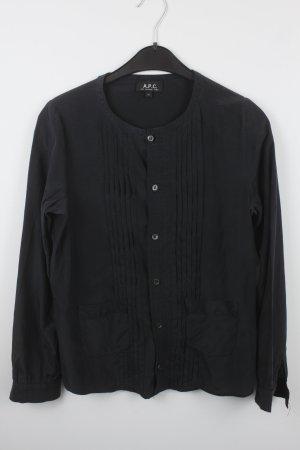 A.P.C. Langarm-Bluse Gr. M dunkelgrau (18/7/138)