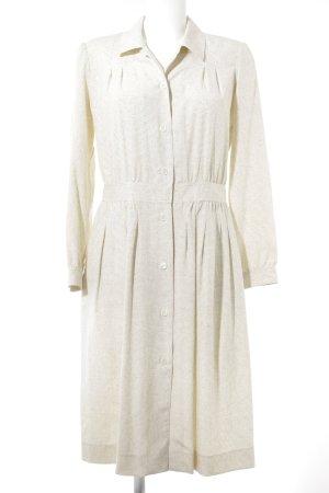 A.P.C. Midi-jurk taupe-room gestippeld patroon retro uitstraling
