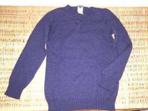 A.P.C. Knitted Sweater dark blue wool