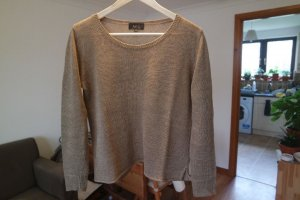 A.P.C. Knitted Sweater beige linen