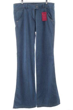 A.P.C. Pantalone a zampa d'elefante blu fiordaliso stile casual