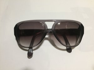 A.P.C. Aviator Glasses dark grey synthetic material