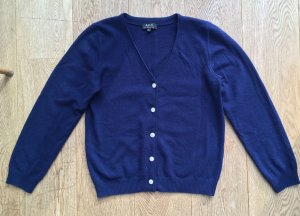A.P.C. Knitted Cardigan dark blue-white cashmere