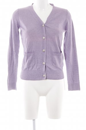 A.P.C. Cardigan lilac-natural white striped pattern casual look