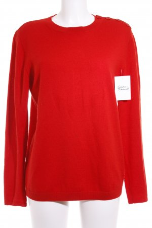 A.P.C. Knitted Sweater red weave pattern casual look