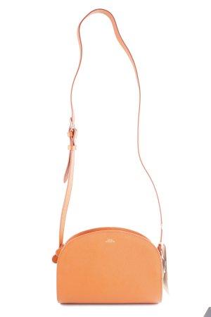 A.P.C. Gekruiste tas donker oranje-goud elegant