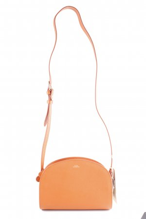 A.P.C. Sac bandoulière orange foncé-doré élégant