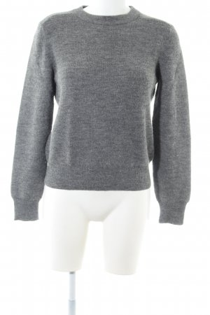 A.P.C. Wool Sweater light grey flecked casual look