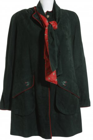 A. Pfister Kurzmantel dunkelgrün-rot klassischer Stil