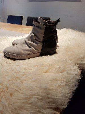 AS98 Laarzen wit-zwart