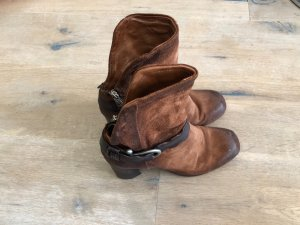 AS98 Stivaletto western marrone Pelle