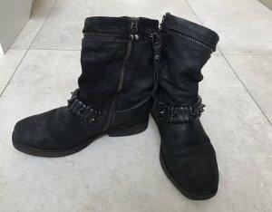 A.S.98 Bottines noir cuir