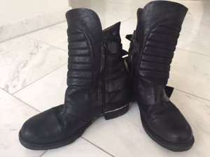 A.S.98 Boots black-silver-colored