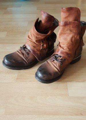 A.S.98 Boots cognac-coloured