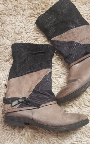 A.S.98 Booties black-taupe leather