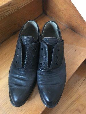 A.S.98 Zapatos gris oscuro Cuero