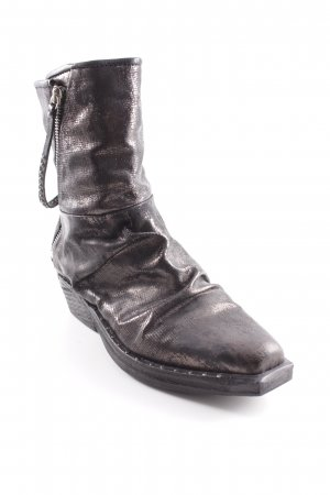 A.S.98 Reißverschluss-Stiefeletten schwarz-grau Biker-Look