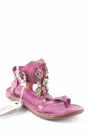 A.S.98 Strapped Sandals violet beach look