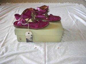 A.S.98 Romeinse sandalen magenta-framboosrood Leer