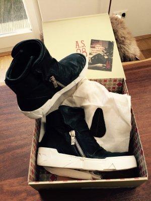 A.S.98 Sneaker schwarz mit weißer Sohle