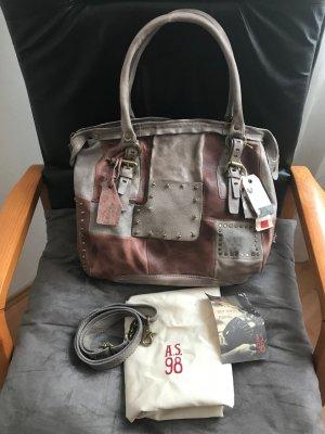 A.S.98 Handbag multicolored leather