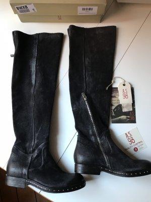 A.S. 98 Wildleder-Stiefel, Gr. 37, schwarz, overknee, neu
