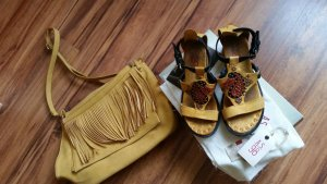 Airstep Sandals dark yellow leather