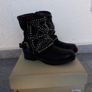 Airstep Korte laarzen zwart-zilver Leer