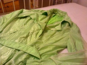 A summer jacket green color