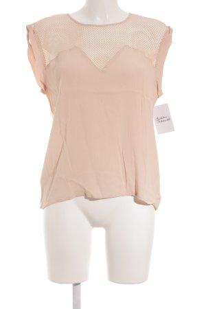 Aaiko Mouwloze blouse nude straat-mode uitstraling