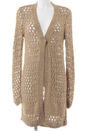 Aaiko Cardigan color cammello Motivo a maglia leggera stile classico