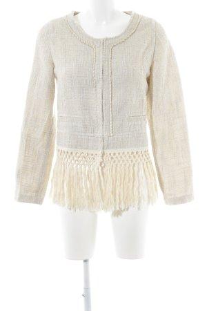 Aaiko Short Jacket oatmeal-cream weave pattern elegant
