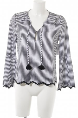 Aaiko Slip-over Blouse black-white striped pattern casual look