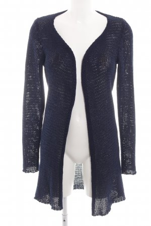 Aaiko Knitted Coat blue weave pattern casual look