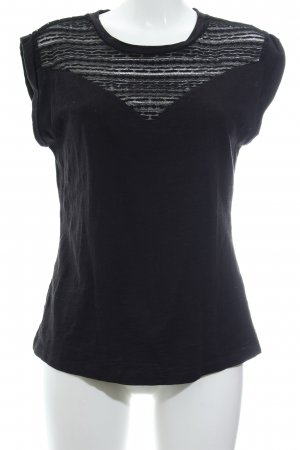Aaiko Camiseta negro look casual