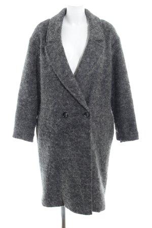 Aaiko Cappotto in lana grigio puntinato stile casual