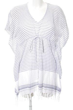 Aakasha Oversized Shirt weiß-blau Streifenmuster Casual-Look