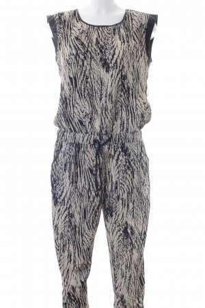Aako Jumpsuit cream-black spots-of-color pattern business style