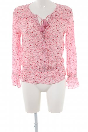 Aako Long Sleeve Blouse white-pink allover print casual look