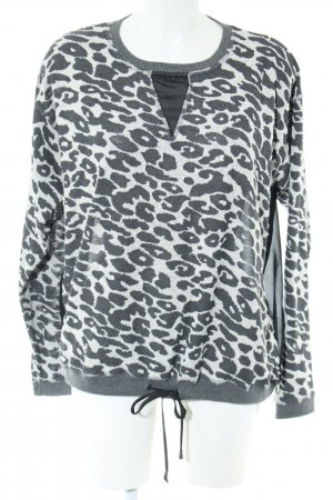 Aako Crewneck Sweater black-white allover print casual look