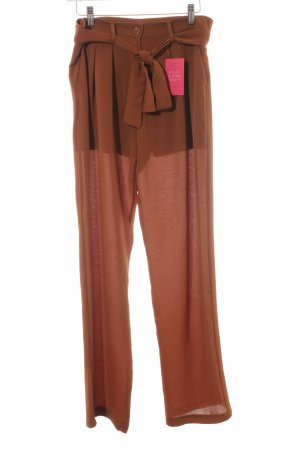 Aako Jersey Pants cognac-coloured casual look
