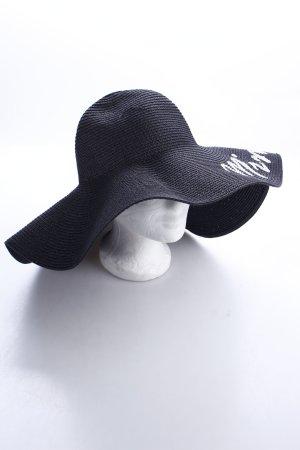 Abaco Beach Company Strohhut schwarz-weiß klassischer Stil