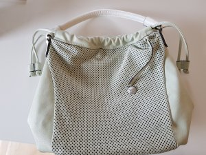 Carry Bag sage green-white leather